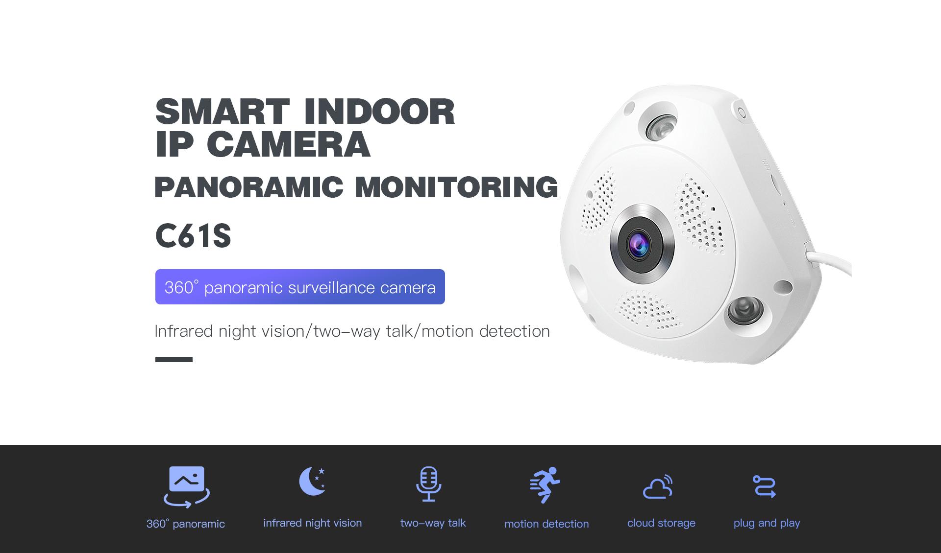 Panoramic Indoor Security Camera