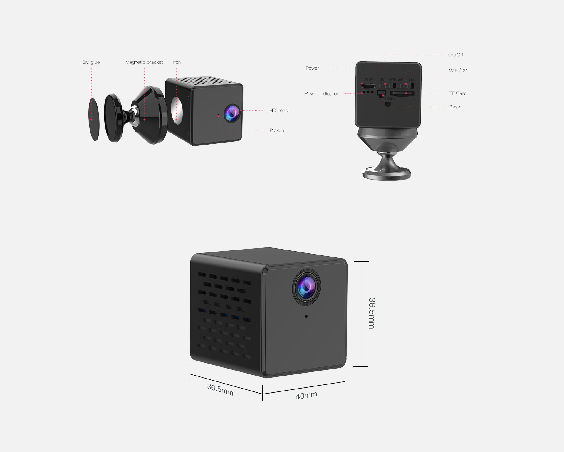 Smart Hidden Indoor IP Camera